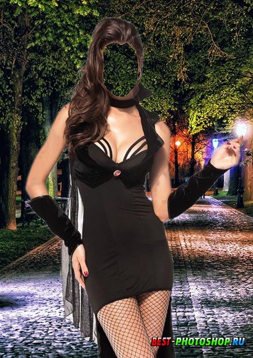 Женский шаблон для фотошопа - Графиня ночи