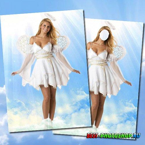 Женский шаблон для фотошопа - Ангел