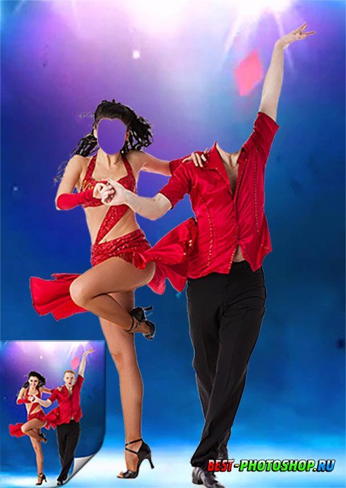 Парный шаблон для фотошопа - Танцоры