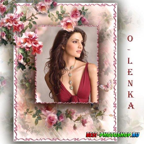 Рамка для фотошопа - Цветок прекрасного кокетства