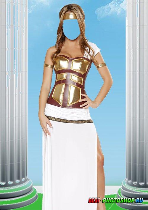 Шаблон для фотошопа - Греческая богиня