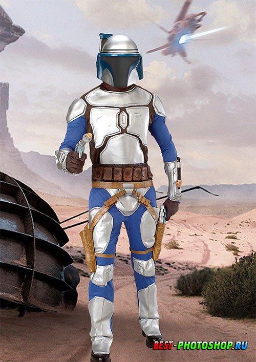 Шаблон для фотошопа - Солдат звездных воин