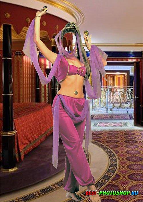 Шаблон для фотошопа - Восточная танцовщица