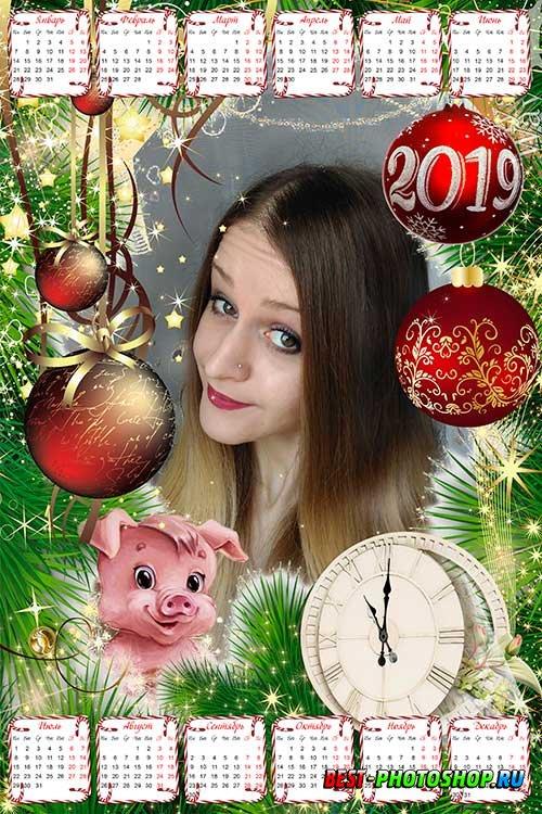 Календарь-рамка на 2019 год - В ожидании Нового года