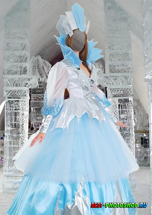 Шаблон для фотошопа - Снежная королева