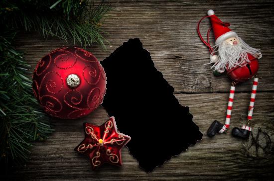 Онлайн рамка - Дед мороз и ёлочные игрушки