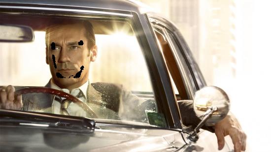 Вставить лицо в рамку онлайн - За рулем