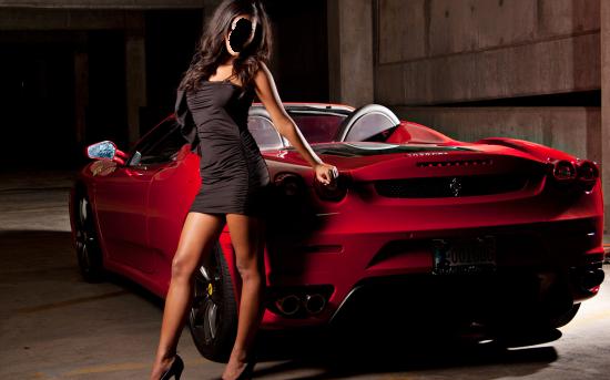 Вставить лицо в рамку онлайн - Девушка у машины