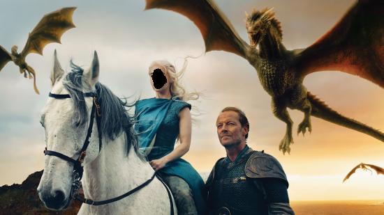 Вставить лицо в рамку онлайн - Мать драконов