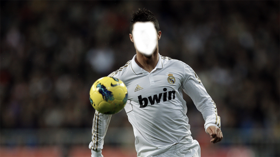 Вставить лицо в рамку онлайн - Футболист