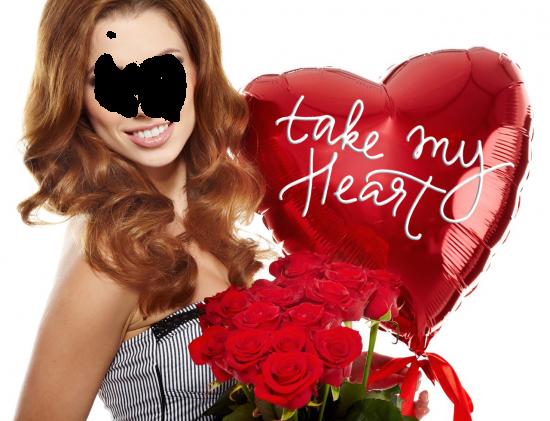 Вставить лицо в фото онлайн - С Днем Святого Валентина