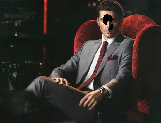 Вставить лицо онлайн - Мужчина в кресле