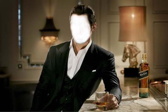 Вставить лицо онлайн - Мужчина с виски