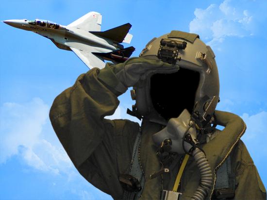 Вставить лицо онлайн - Летчик испытатель
