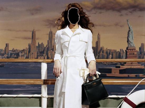 Вставить лицо в шаблон онлайн бесплатно - Дама в белом