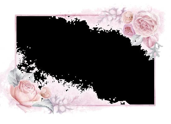 Рамка для фото онлайн - Розовые цветы