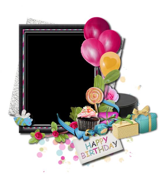 Рамка для фото онлайн - С Днем рождения!