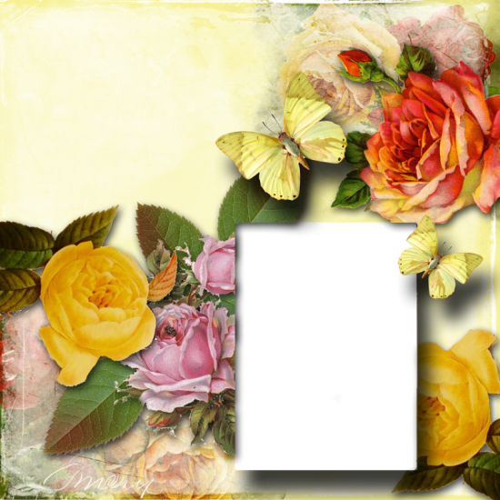 Рамка для фото онлайн - Цветы №1
