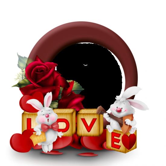 Рамка для фото онлайн - Любовь и зайчики
