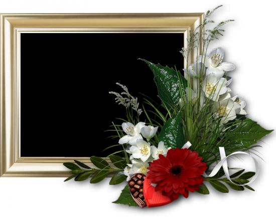 Рамка для фото онлайн - Цветы и конфеты