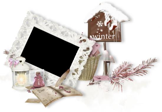 Рамка для фото онлайн - Зимняя