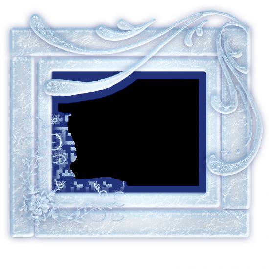 Рамка для фото онлайн - Зимние узоры