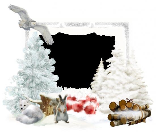 Рамка для фото онлайн - Зимние сказка для детей