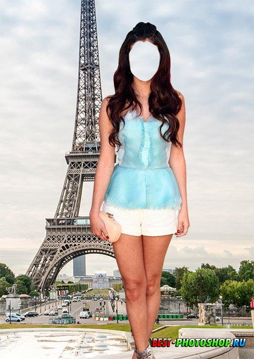 Женский шаблон psd - Красотка в Париже
