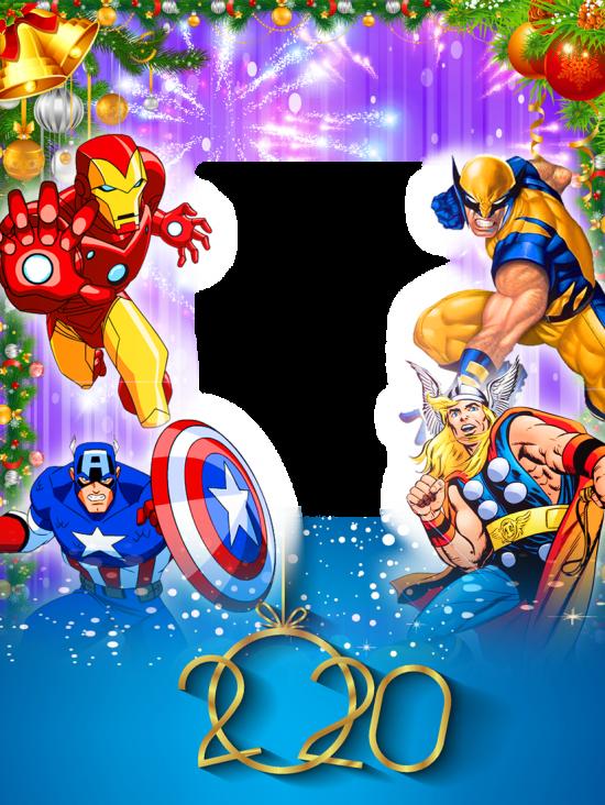 Онлайн рамка на новый год с героями мультфильмов