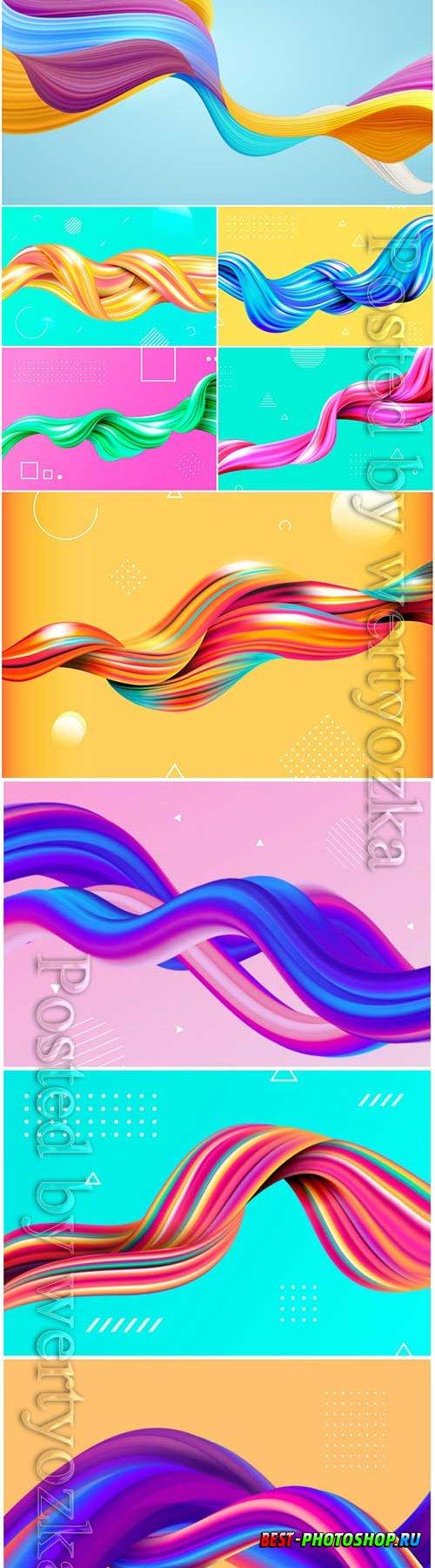 Color flow background vector illustration