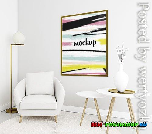 Decorative arrangement with frame mock-up