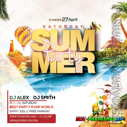 Summer Party2 - Premium flyer psd template