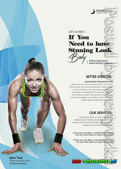 Sport Fitness - Premium flyer psd template