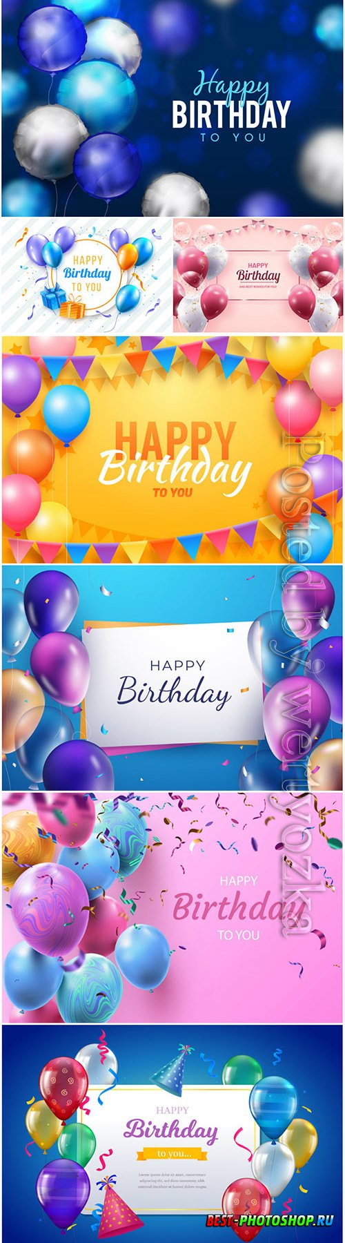Happy birthday vector backgrounds