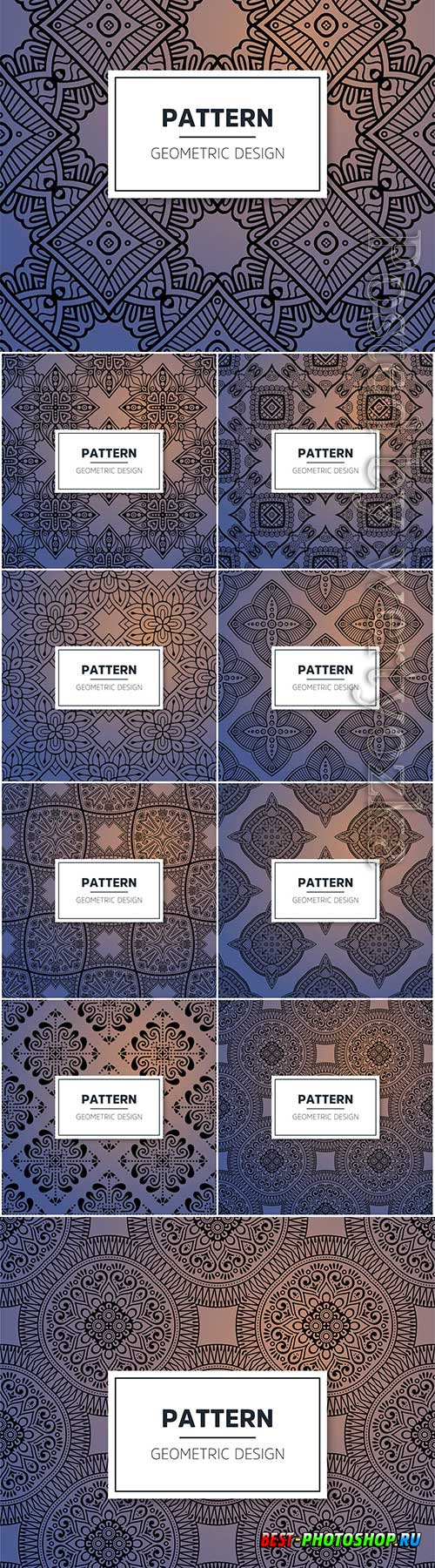 Luxury ornamental mandala seamless vector pattern