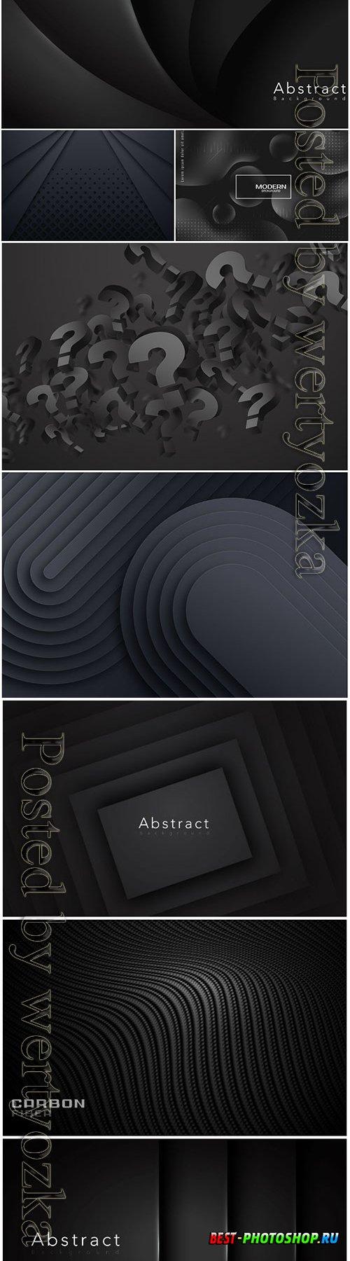Dark vector abstract background