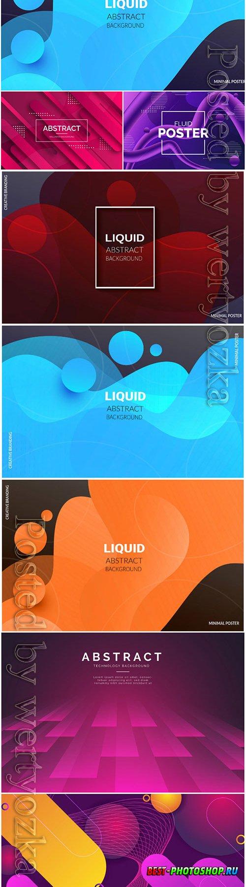 Liquid vector abstract background