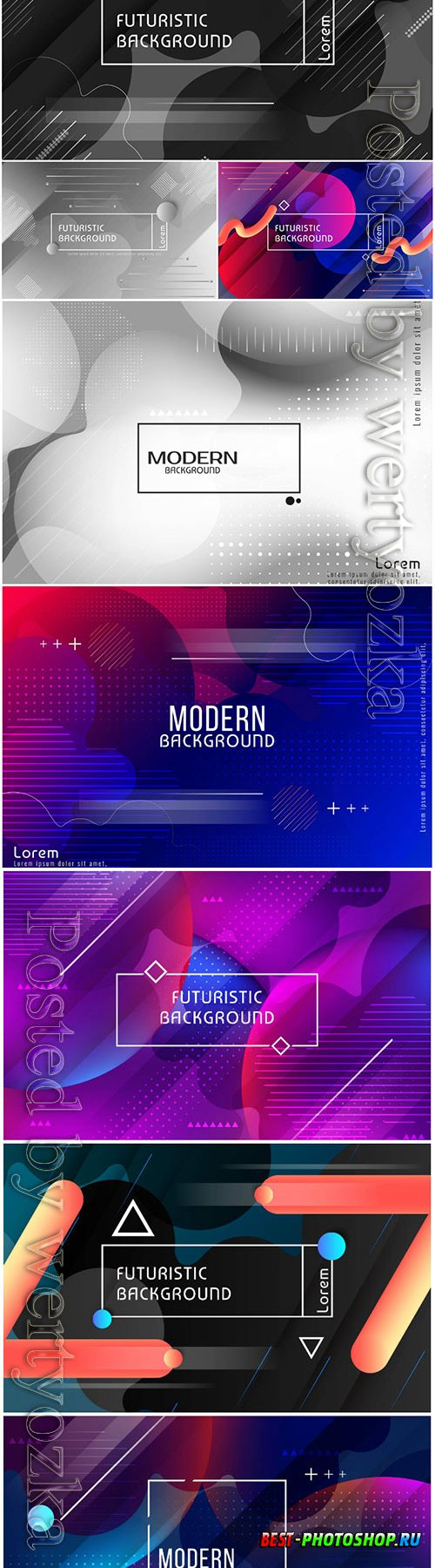 Futuristic vector abstract background
