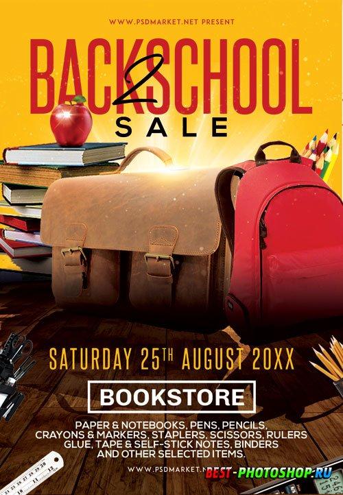 Back 2 school sale - Premium flyer psd template