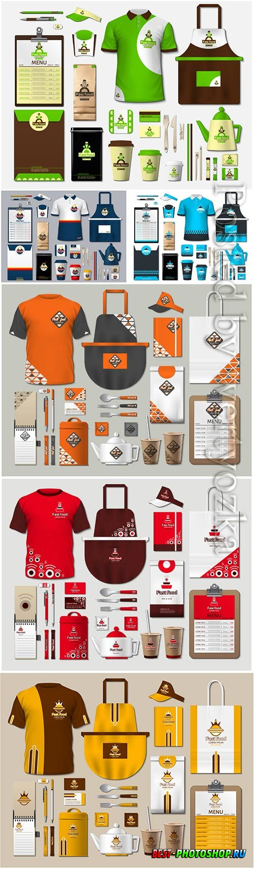 Coffee shop stationery with design