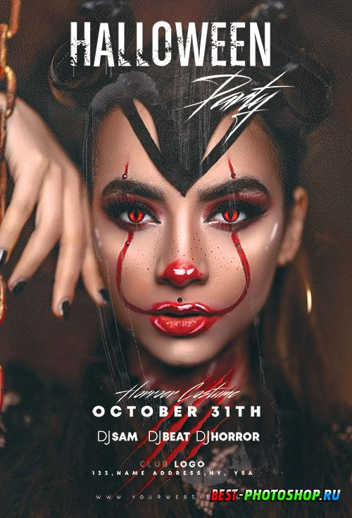 Halloween Party - Premium flyer psd template