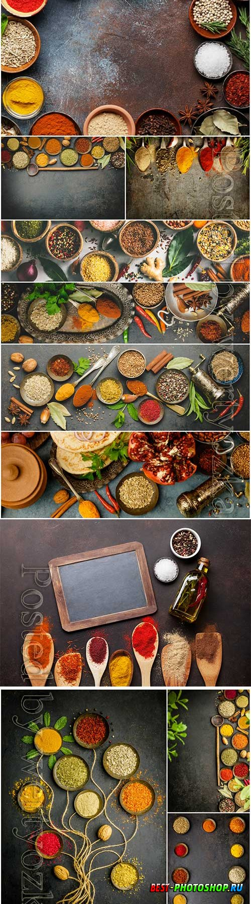 Spice set stock photo