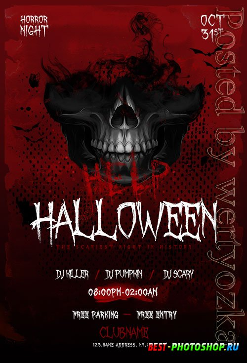 Halloween Nightmare Flyer PSD Template