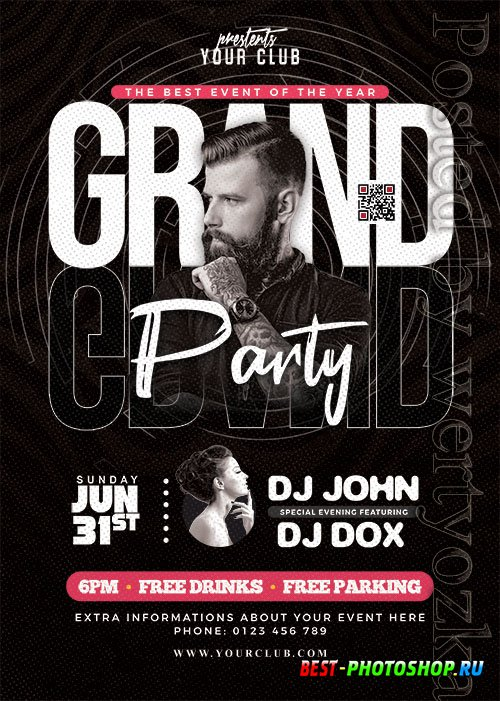 Grand Party Event Flyer PSD Template