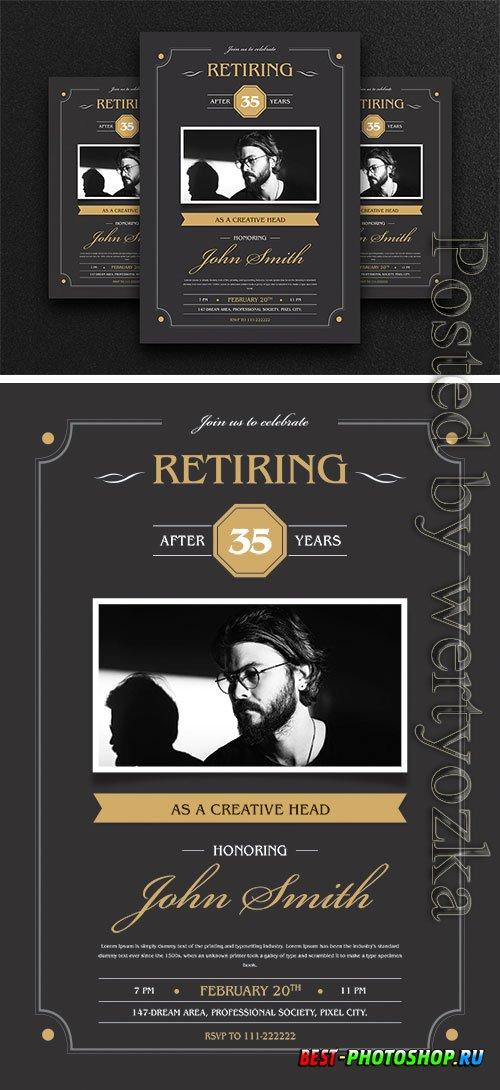 Retirement Invitation Flyer Psd Template