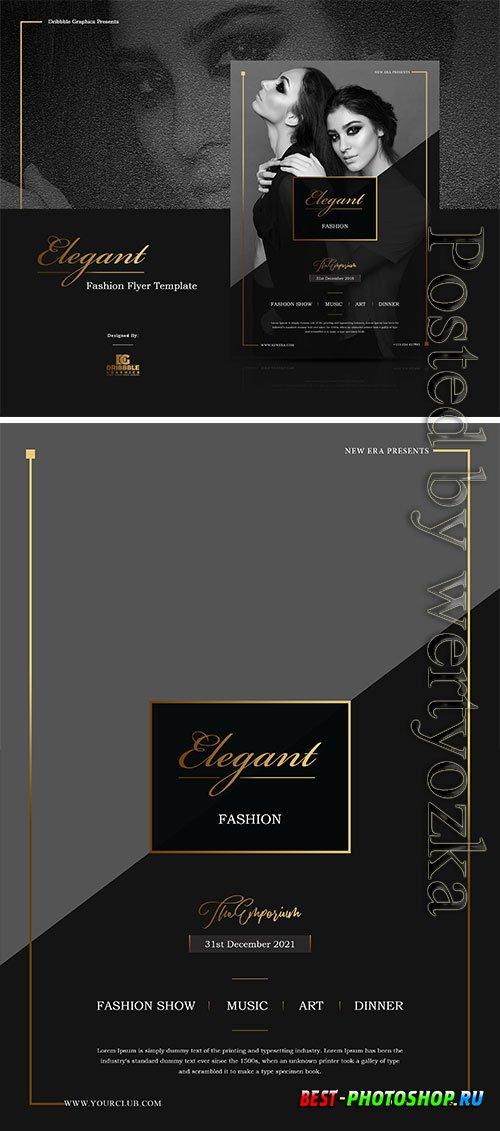 Elegant Fashion Flyer Psd  Template