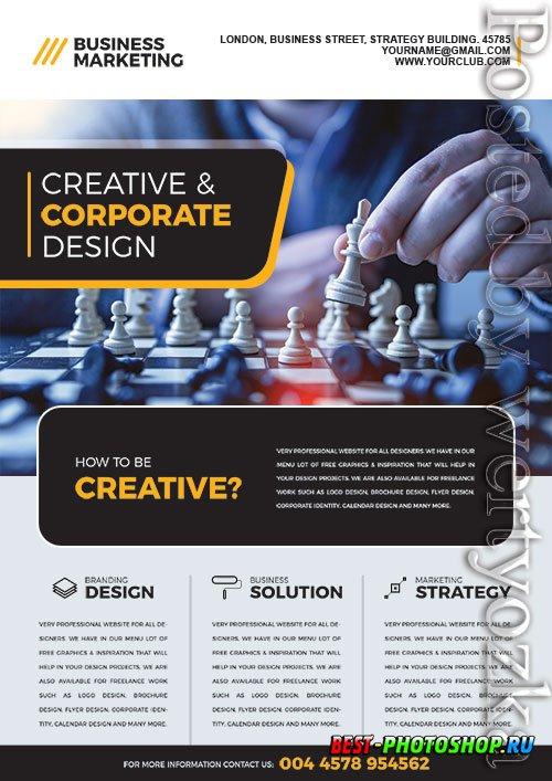 Business Marketing Flyer PSDTemplate