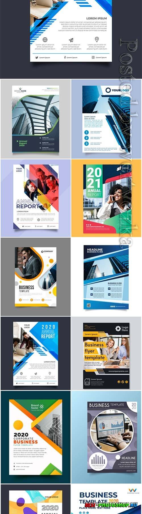 Business flyer concept in vector