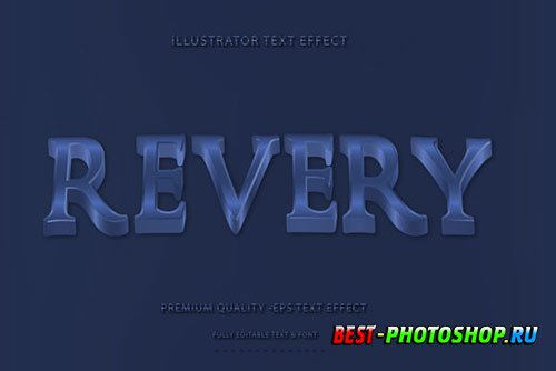 Wavey Revery Text Style With Royal Blue Accent