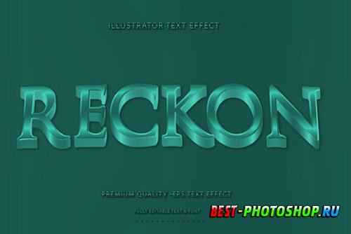 Wavey ReckonText Style with Teal Accent